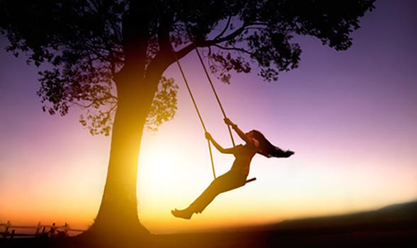 lady swinging